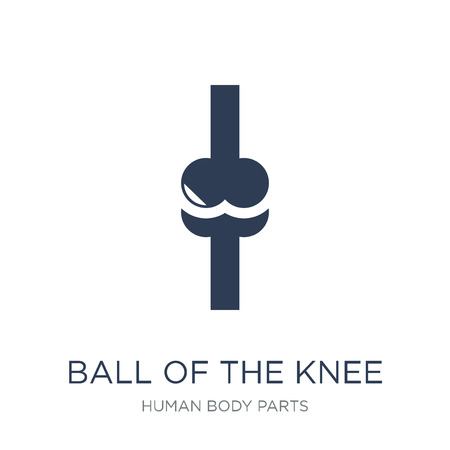 Ball of the knee icon. Trendy flat vector Ball of the knee icon on white background from Human Body Parts collection, vector illustration can be use for web and mobile, eps10
