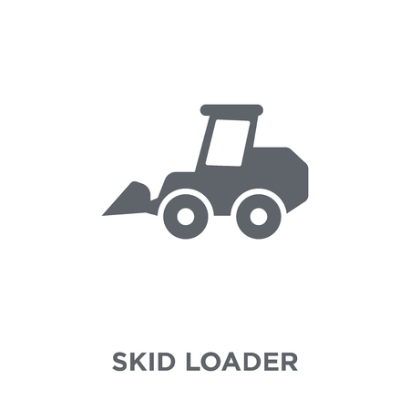 skid loader icon. skid loader design concept from Industry collection. Simple element vector illustration on white background.