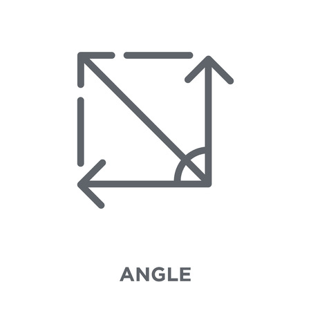 Angle icon. Angle design concept from Geometry collection. Simple element vector illustration on white background. Çizim
