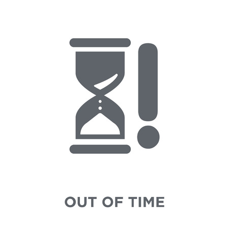Out of time icon. Out of time design concept from Time managemnet collection. Simple element vector illustration on white background.