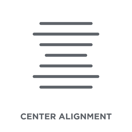 Center alignment icon. Center alignment design concept from Geometry collection. Simple element vector illustration on white background. Çizim