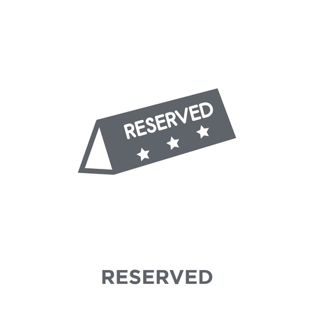 Reserved icon. Reserved design concept from Restaurant collection. Simple element vector illustration on white background.