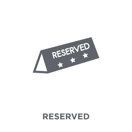 Reserviertes Symbol. Reserviertes Designkonzept aus der Restaurantkollektion. Einfache Elementvektorillustration auf weißem Hintergrund.