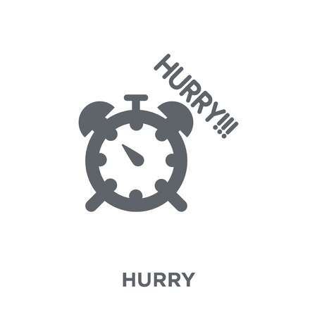 Hurry icon. Hurry design concept from Time managemnet collection. Simple element vector illustration on white background.
