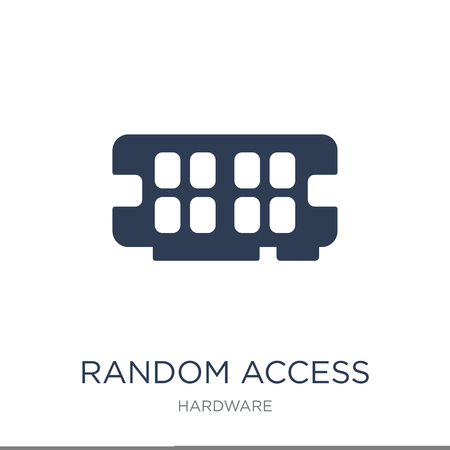 Random access memory icon. Trendy flat vector Random access memory icon on white background from hardware collection, vector illustration can be use for web and mobile, eps10 Çizim