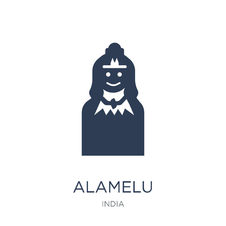 Alamelu icon. Trendy flat vector Alamelu icon on white background from india collection, vector illustration can be use for web and mobile, eps10 Illustration