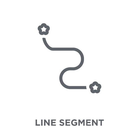 Line segment icon. Line segment design concept from Geometry collection. Simple element vector illustration on white background. 向量圖像