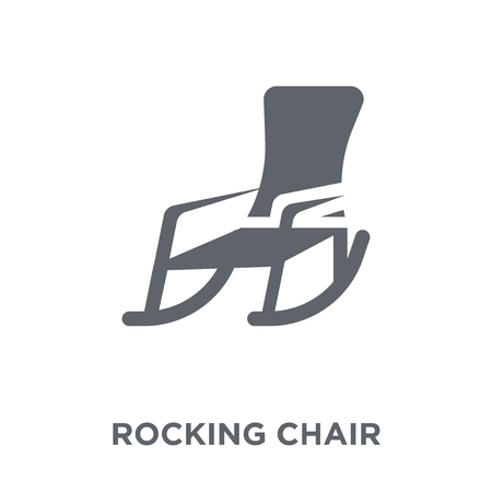 Rocking chair icon. Rocking chair design concept from Furniture and household collection. Simple element vector illustration on white background.