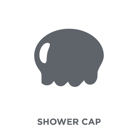 Shower cap icon. Shower cap design concept from  collection. Simple element vector illustration on white background. Archivio Fotografico - 112137628