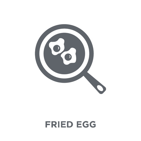 Fried egg icon. Fried egg design concept from Restaurant collection. Simple element vector illustration on white background.