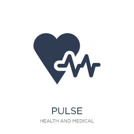 Pulse icon. Trendy flat vector Pulse icon on white background from Health and Medical collection, vector illustration can be use for web and mobile, eps10 Illustration