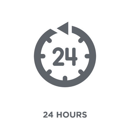 24 hours icon. 24 hours design concept from Time managemnet collection. Simple element vector illustration on white background.