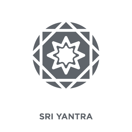 Sri yantra icon. Sri yantra design concept from Geometry collection. Simple element vector illustration on white background.