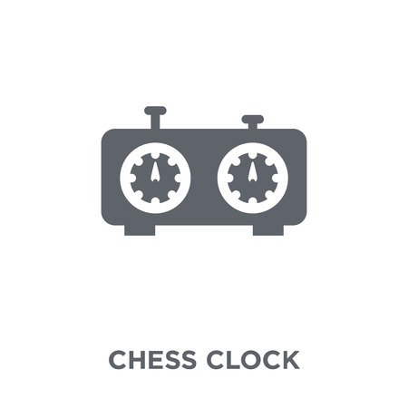 Chess clock icon. Chess clock design concept from Time managemnet collection. Simple element vector illustration on white background. Archivio Fotografico - 112137641