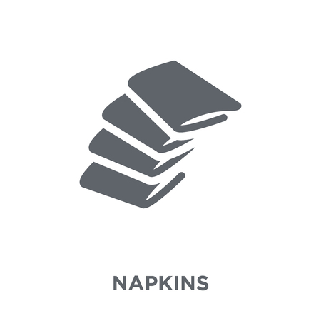 Napkins icon. Napkins design concept from Restaurant collection. Simple element vector illustration on white background. Archivio Fotografico - 111298697
