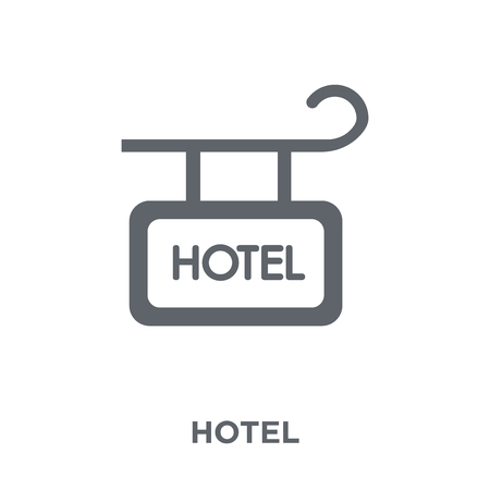 Hotel Sign icon. Hotel Sign design concept from Hotel collection. Simple element vector illustration on white background. Stock Vector - 112137642