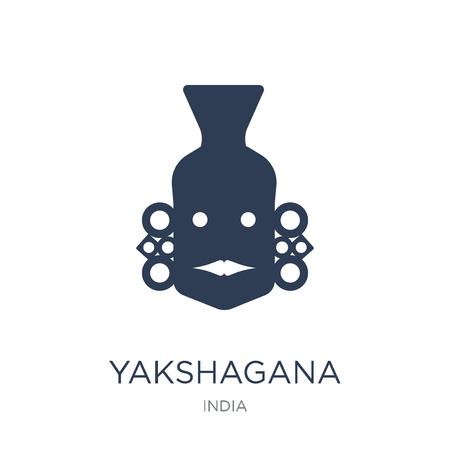 yakshagana icon. Trendy flat vector yakshagana icon on white background from india collection, vector illustration can be use for web and mobile, eps10