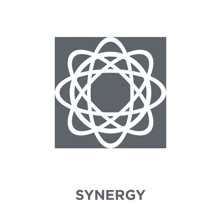 Synergy icon. Synergy design concept from Geometry collection. Simple element vector illustration on white background.