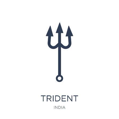 Trident icon. Trendy flat vector Trident icon on white background from india collection, vector illustration can be use for web and mobile, eps10 Ilustracja