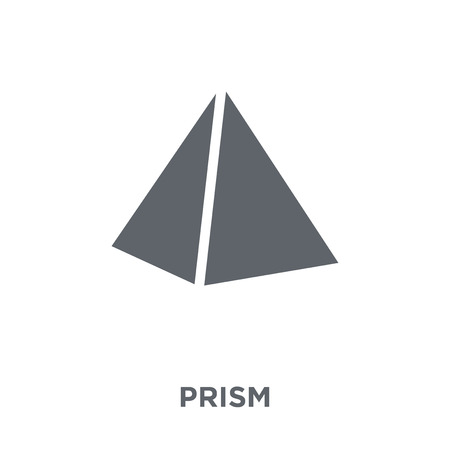 Prism icon. Prism design concept from Geometry collection. Simple element vector illustration on white background.