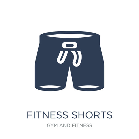 Fitness-Shorts-Symbol. Trendiges flaches Vektor-Fitness-Shorts-Symbol auf weißem Hintergrund aus der Gym- und Fitness-Kollektion, Vektorillustration kann für Web und Mobile verwendet werden, eps10