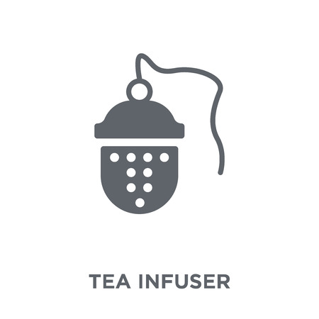tea infuser icon. tea infuser design concept from Kitchen collection. Simple element vector illustration on white background.
