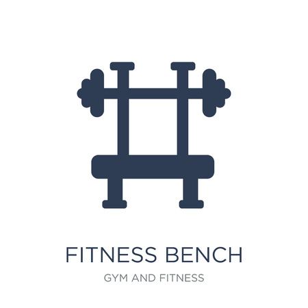 Fitness bench icon. Trendy flat vector Fitness bench icon on white background from Gym and fitness collection, vector illustration can be use for web and mobile, eps10