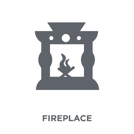Fireplace icon. Fireplace design concept from Furniture and household collection. Simple element vector illustration on white background.