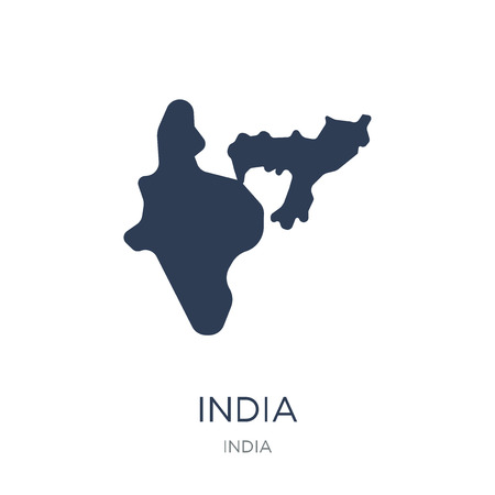 India icon. Trendy flat vector India icon on white background from india collection, vector illustration can be use for web and mobile, eps10 Illustration