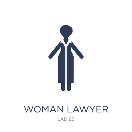 Woman Lawyer icon. Trendy flat vector Woman Lawyer icon on white background from Ladies collection, vector illustration can be use for web and mobile, eps10 Illusztráció