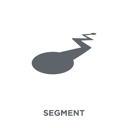 Segment icon. Segment design concept from Geometry collection. Simple element vector illustration on white background.