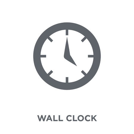 Wall clock icon. Wall clock design concept from Time managemnet collection. Simple element vector illustration on white background. Çizim