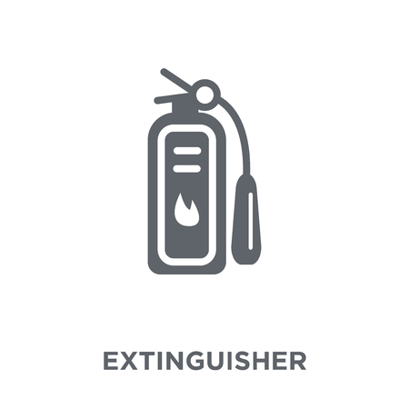 Extinguisher icon. Extinguisher design concept from Hotel collection. Simple element vector illustration on white background. Standard-Bild - 112137712