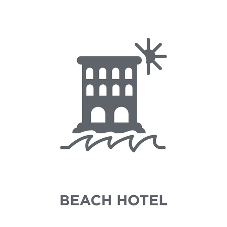Beach Hotel icon. Beach Hotel design concept from Hotel collection. Simple element vector illustration on white background.