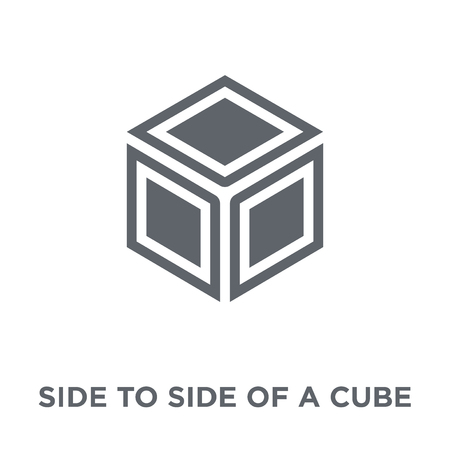 Side to side of a cube icon. Side to side of a cube design concept from Geometry collection. Simple element vector illustration on white background.