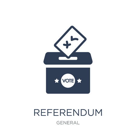 referendum icon. Trendy flat vector referendum icon on white background from General collection, vector illustration can be use for web and mobile, eps10