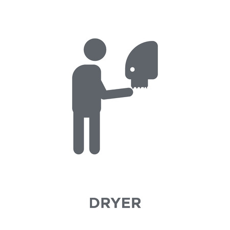 Dryer icon. Dryer design concept from Hygiene collection. Simple element vector illustration on white background.