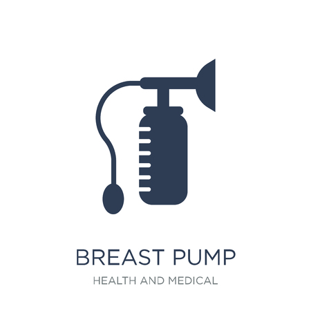 Breast pump icon. Trendy flat vector Breast pump icon on white background from Health and Medical collection, vector illustration can be use for web and mobile, eps10