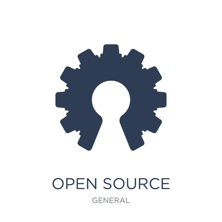 open source icon. Trendy flat vector open source icon on white background from General collection, vector illustration can be use for web and mobile, eps10