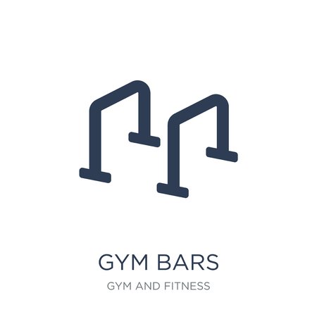 Gym bars icon. Trendy flat vector Gym bars icon on white background from Gym and fitness collection, vector illustration can be use for web and mobile, eps10