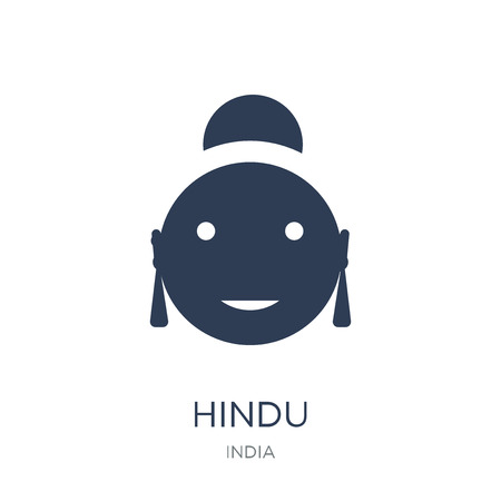 Hindu icon. Trendy flat vector Hindu icon on white background from india collection, vector illustration can be use for web and mobile, eps10