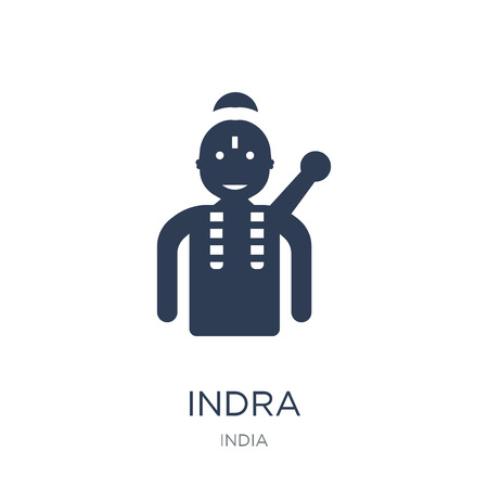 Indra icon. Trendy flat vector Indra icon on white background from india collection, vector illustration can be use for web and mobile, eps10 Ilustração