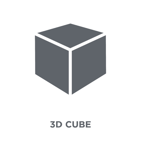 3d cube icon. 3d cube design concept from Geometry collection. Simple element vector illustration on white background.