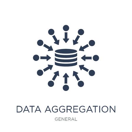 icône d'agrégation de données. Icône d'agrégation de données vectorielles à la mode sur fond blanc de la collection générale, illustration vectorielle peut être utilisé pour le web et mobile, eps10 Vecteurs