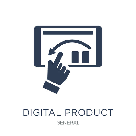 digital product icon. Trendy flat vector digital product icon on white background from general collection, vector illustration can be use for web and mobile, eps10