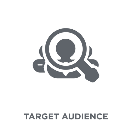 Target audience icon. Target audience design concept from Human resources collection. Simple element vector illustration on white background.