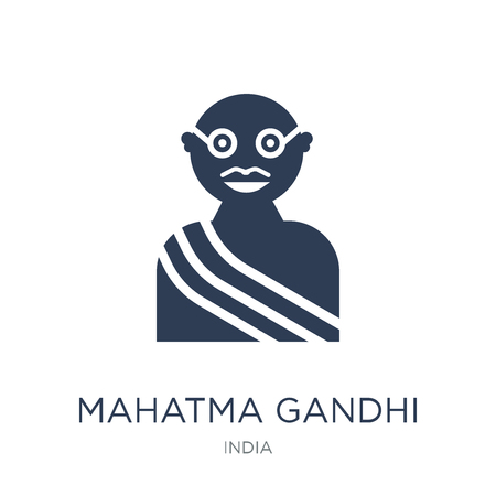 mahatma gandhi icon. Trendy flat vector mahatma gandhi icon on white background from india collection, vector illustration can be use for web and mobile, eps10