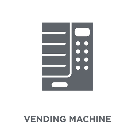 Vending machine icon. Vending machine design concept from Hotel collection. Simple element vector illustration on white background.