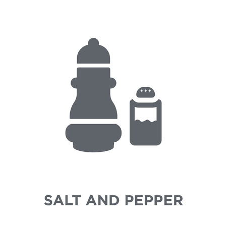 Salt and pepper icon. Salt and pepper design concept from Kitchen collection. Simple element vector illustration on white background. Standard-Bild - 112138095