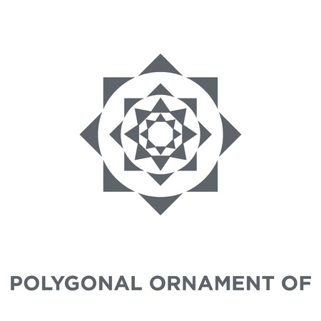 Polygonal ornament of hexagons and triangles icon. Polygonal ornament of hexagons and triangles design concept from Geometry collection. Simple element vector illustration on white background.